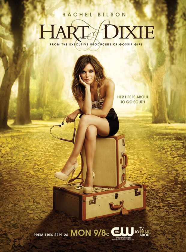 First Look Rachel Bilson In Cw S Hart Of Dixie Poster Exclusive Hart Of Dixie Rachel Bilson Dixie