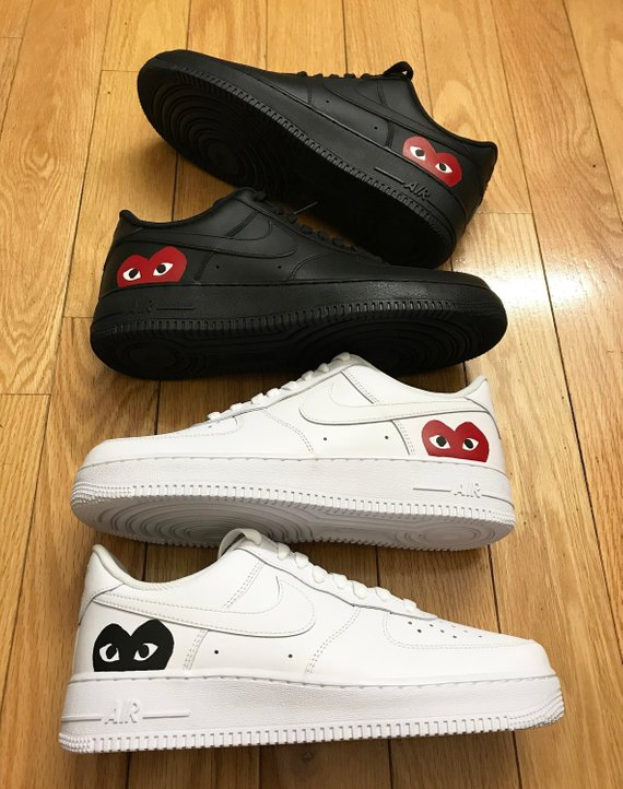 info for e158b 33067 Custom NIKE, Air Force 1 CDG Play, Comme Des Garcons Shoes ...