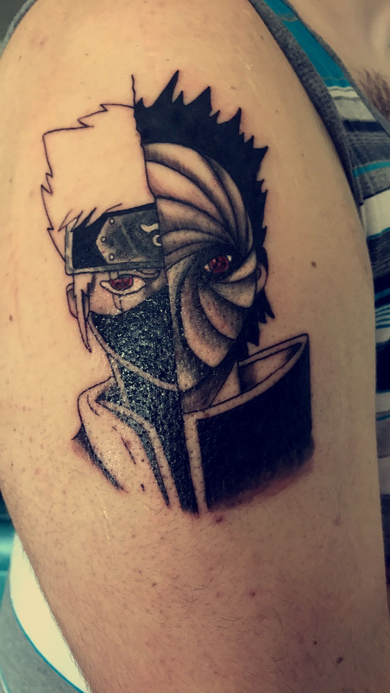 Newest tattoo! #Kakashi #Obito #Naruto #Tattoo #Ink # ...