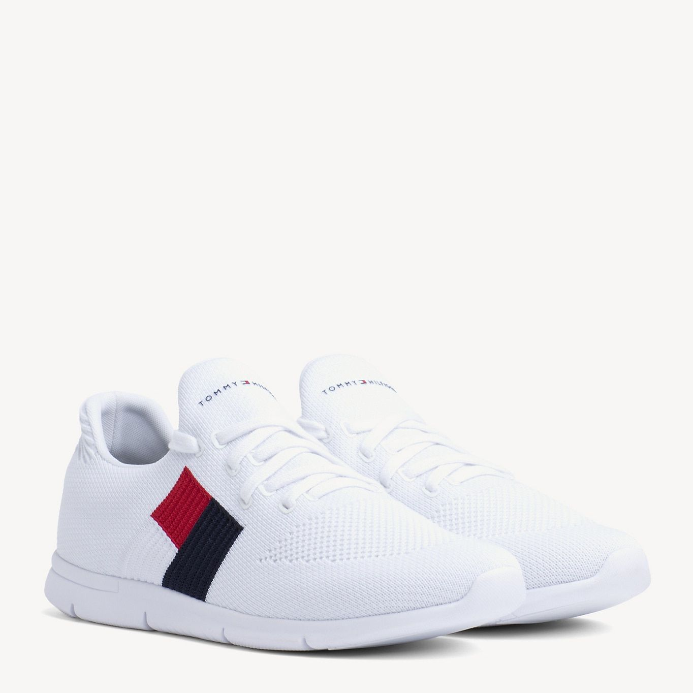 Lightweight Flag Detail Knit Trainers | Tommy Hilfiger