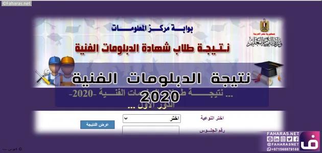 نتيجه الدبلومات الفنية 2020 Governor