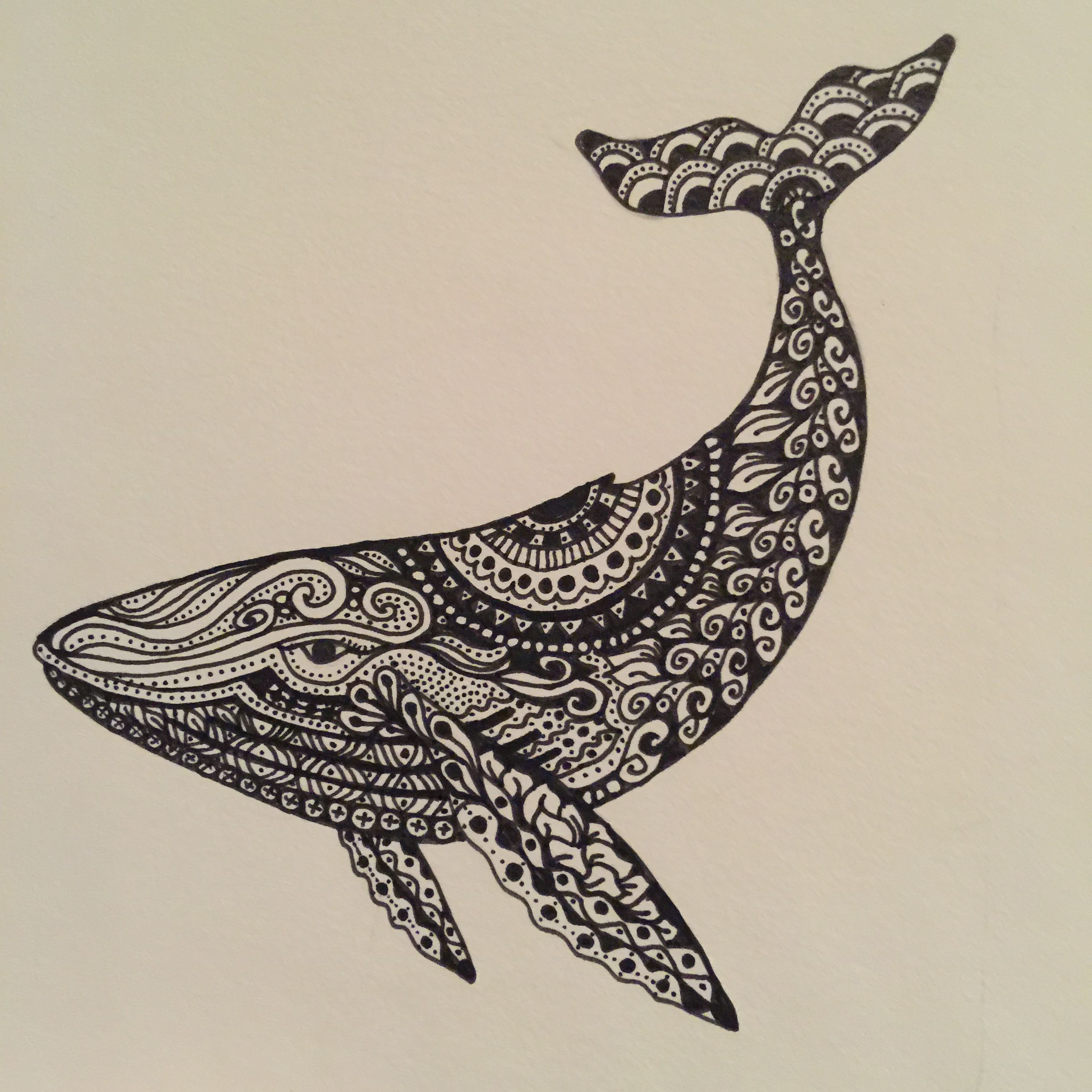 Created for Charlie. He loves whales. | Zentangle Inspired ...