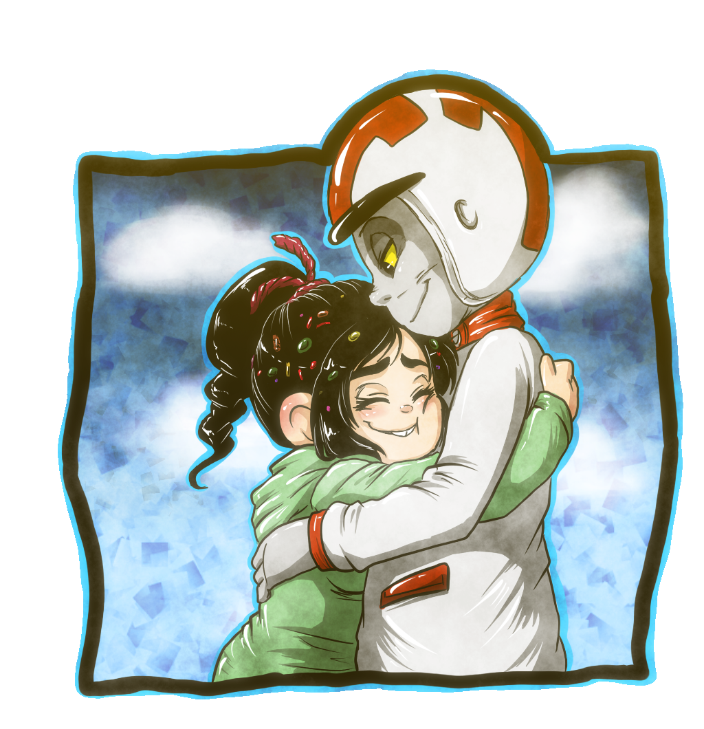 Comission -Turbo and Vanney hugging- by Keedie-Mo.deviantart.com on @DeviantArt