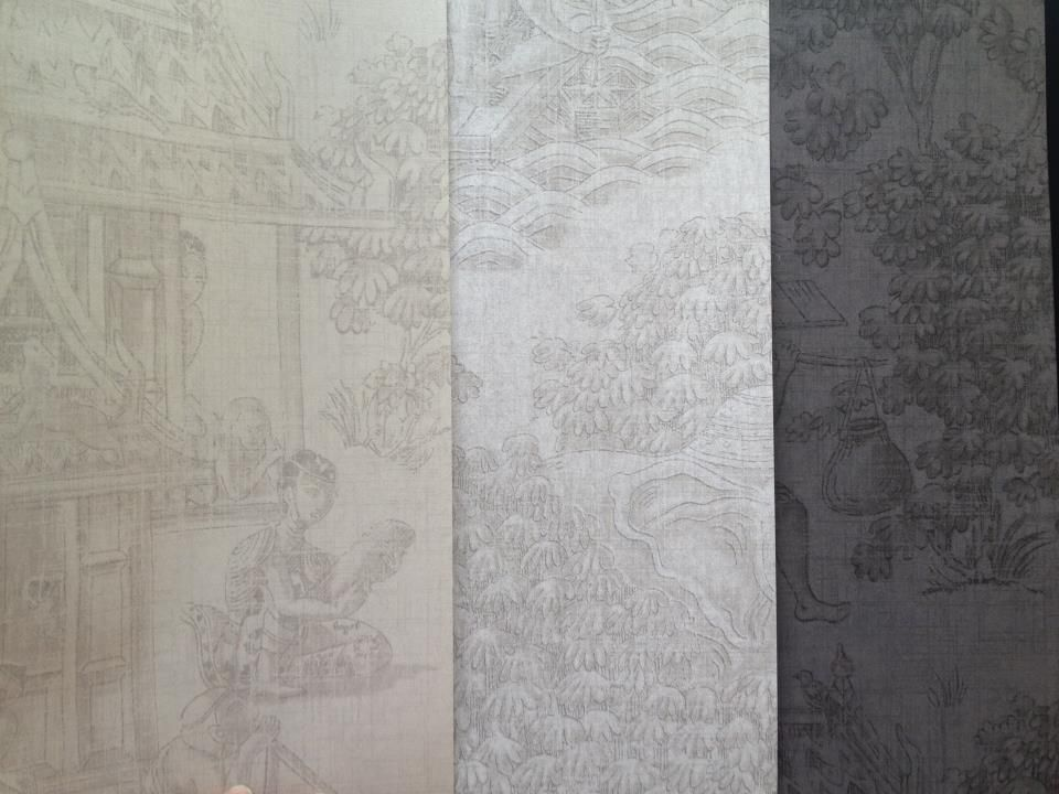 """Jim's Dream"" wallpaper by Jim Thompson. Jim Thompson Fabric, Other Rooms,"