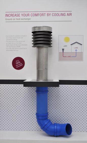 REHAU ground air heat exchanger cabin ideas in 2018 Pinterest - Echangeur Air Air Maison