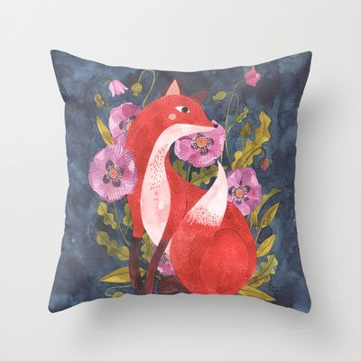 FOX & FLORA Throw Pillow