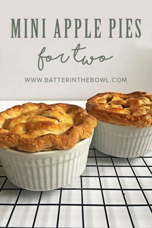 Apple Pies for Two -  Mini Apple Pies for Two | Batter in the Bowl  -Mini Apple Pies for Two -  Min