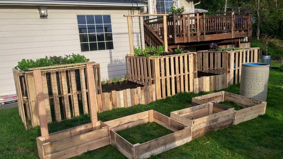 Diy Pallet Garden Raised Flower Bed Ideas Raised Garden Beds Diy