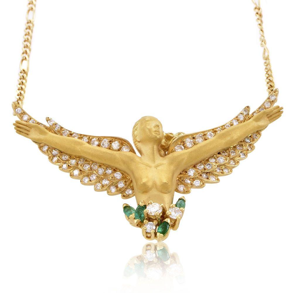 Carrera y Carrera Angelitos 18K Yellow Gold Diamond & Emerald ...
