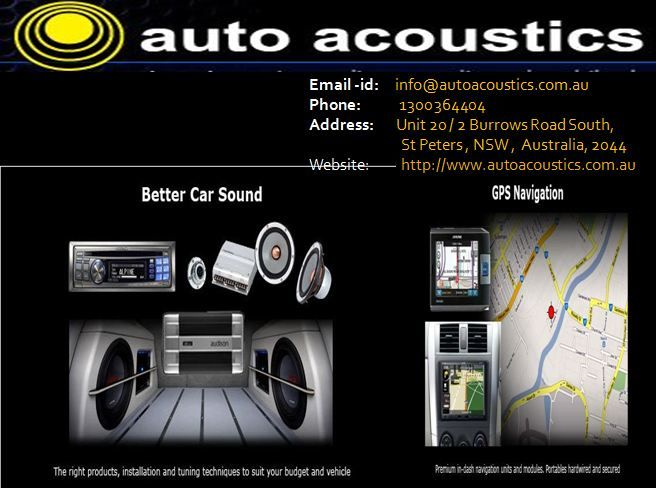 If You Are Looking For Professional Car Audio Installation Service Provider In Sydney  Then L