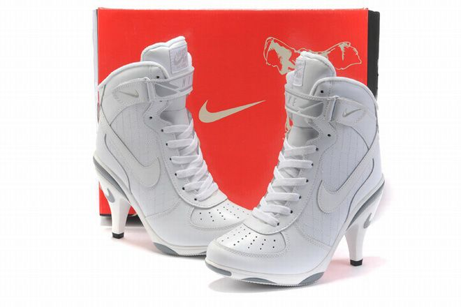 air force one heels for women | women all white nike air force one high  heels