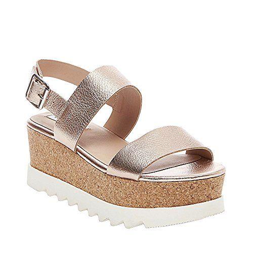 Steve Madden womens krista wedge sandal rose gold