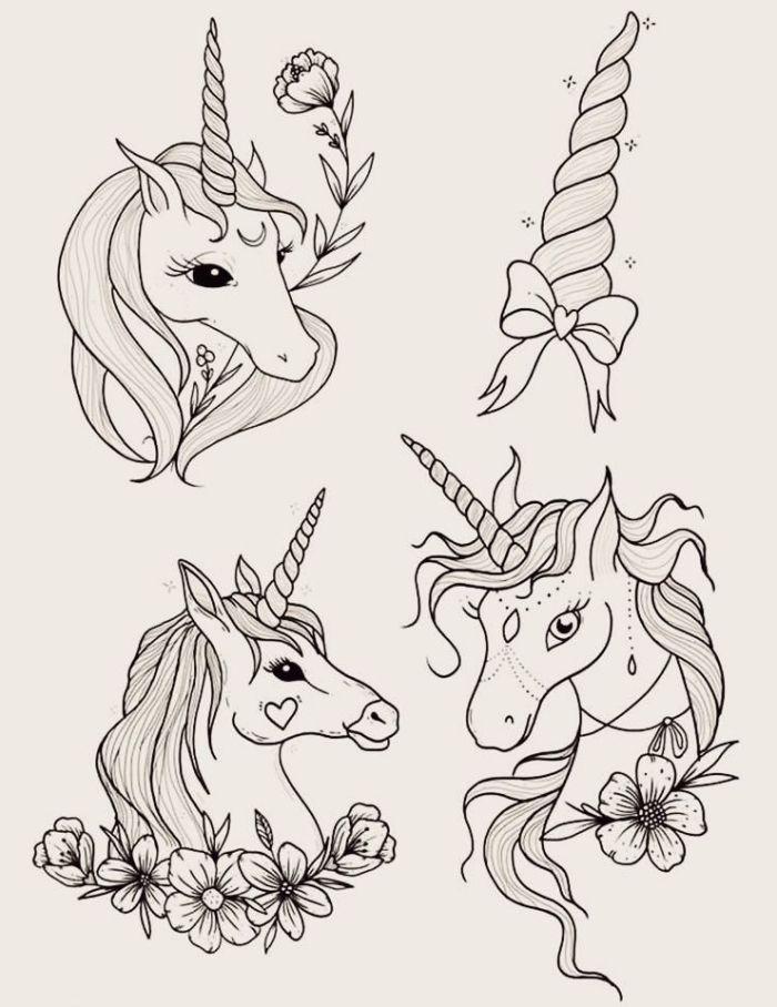 ▷ 1001 + idées pour faire de lart original avec un dessin licorne