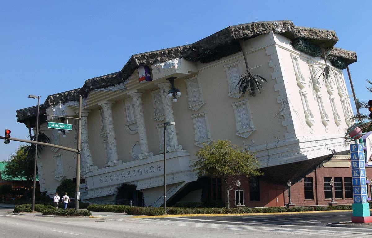Attractive Crazy Looking Houses | Wonderworks Upsidedown Building In Florida   Upside  Down Wonderworks . Amazing Pictures