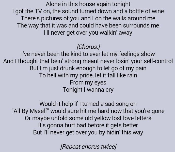 Keith Urban Tonight I Wanna Cry Keith Urban Quotes Favorite Quotes Quotes