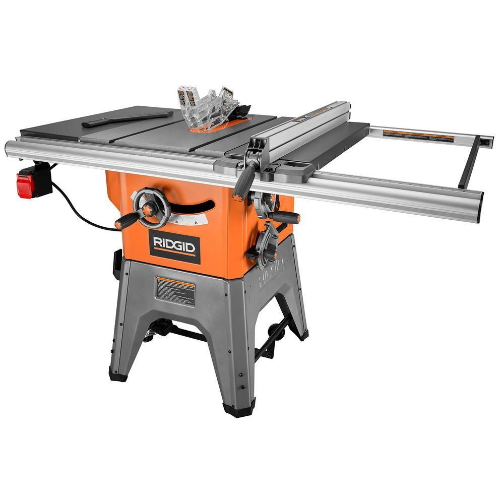 Ridgid 13 Amp 10 In Professional Cast Iron Table Saw R4512 In