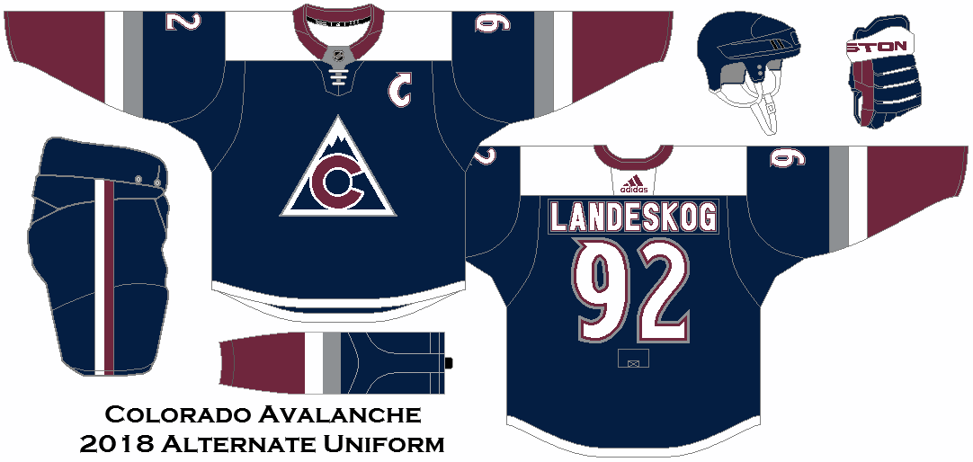 newest baed1 344ab 2018 NHL Alternate Uniform Concepts - Colorado Avalanche ...
