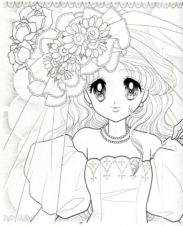 Japanese shoujo coloring book 3 mama mia picasa web - Album coloriage adulte ...