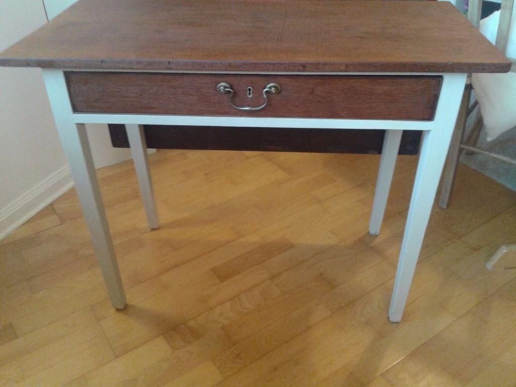 Little antique drop leaf table. Upcycled - Little Antique Drop Leaf Table. Upcycled 6 Wester Row