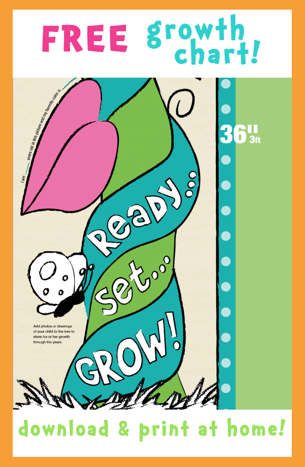 Growth Chart Free Printable Growth Chart Chart Your Children S Height Fun For Kids And Adults Perfec Growth Chart Grow Chart For Kids Height Chart Kids