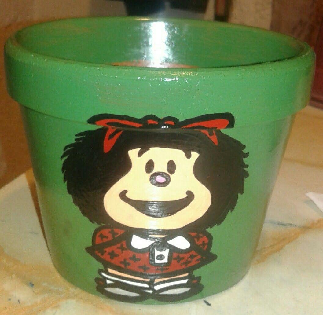 Maceta Mafalda (verde)