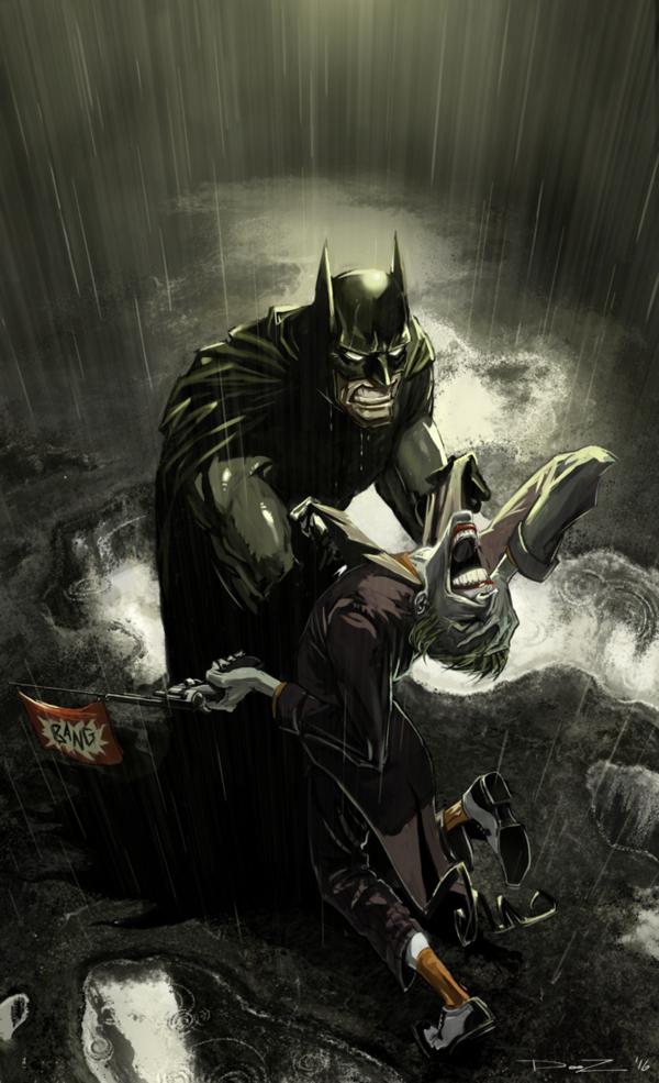 Cyberwolf dc comics dessin batman batman et batman vs - Batman contre joker ...