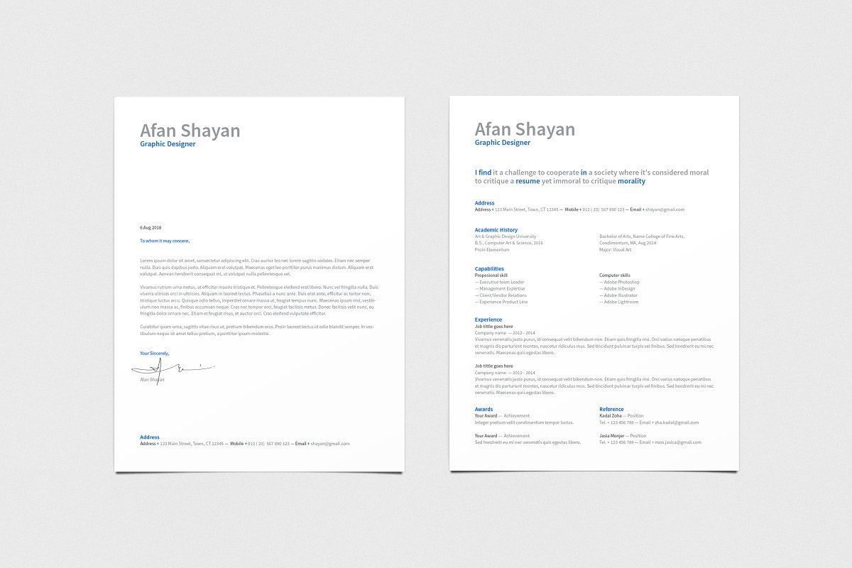 Resume in 2020 Indesign templates, Contemporary