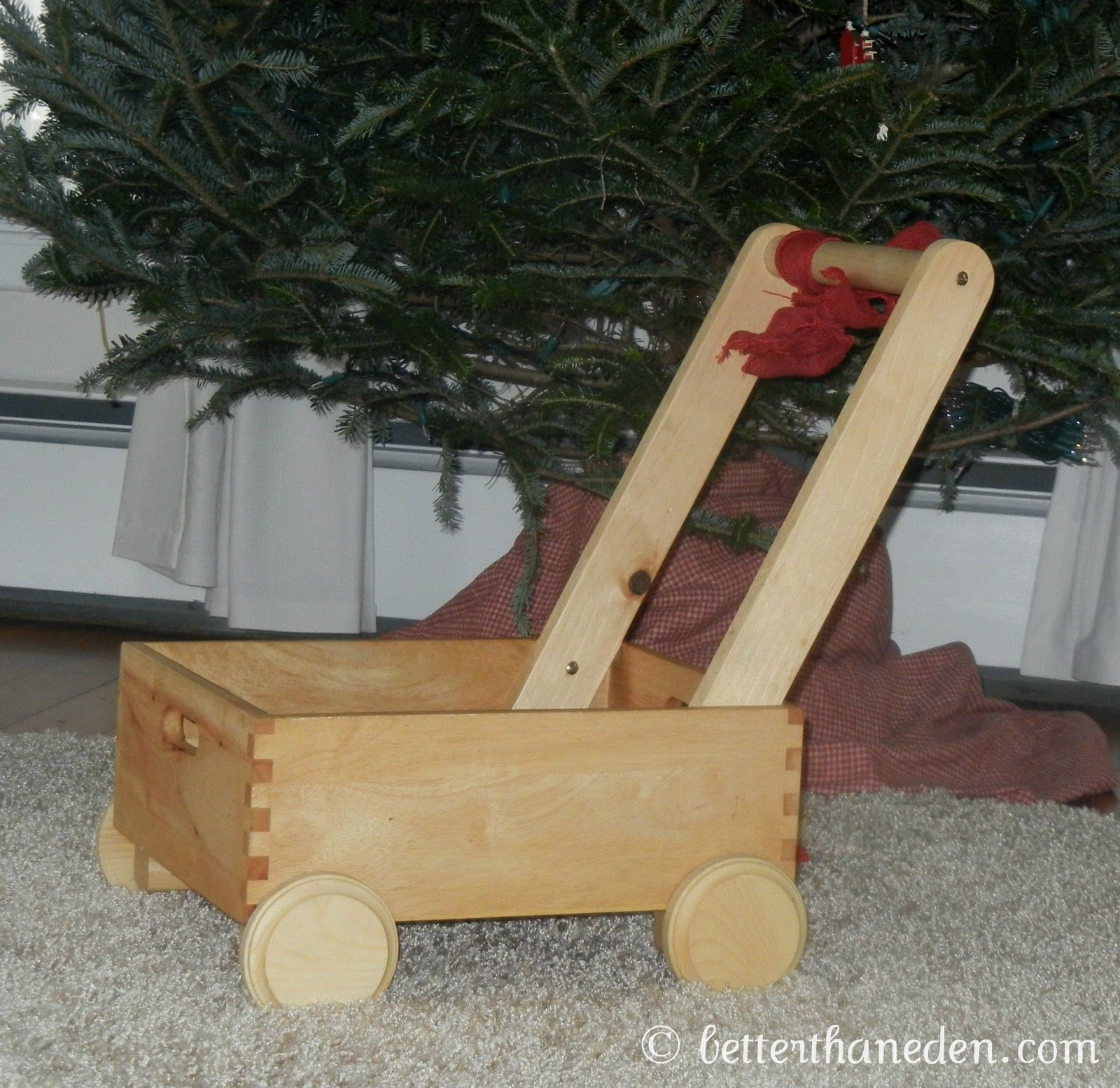 Better Than Eden A Homemade Wooden Toddler Push Cart
