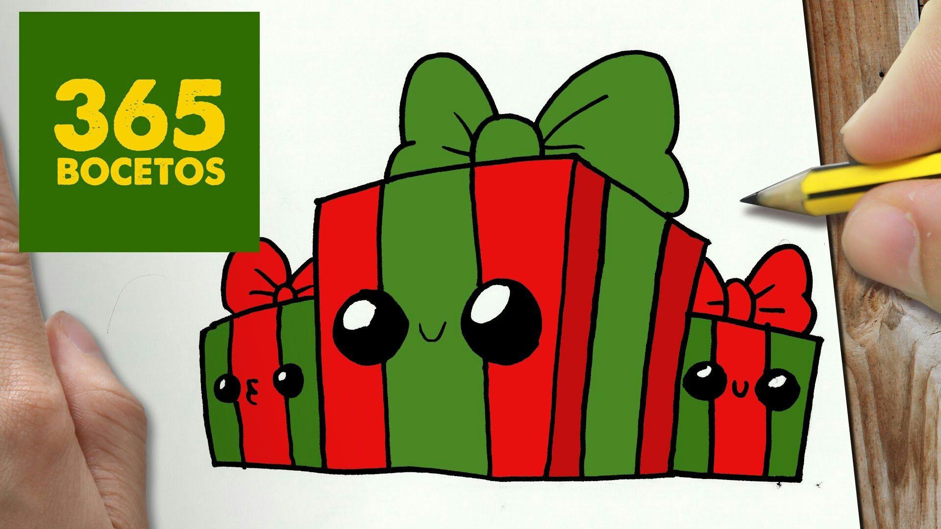 Cadeaux Rouge Et Vert 365 Dessins Dessin Kawaii Et 365