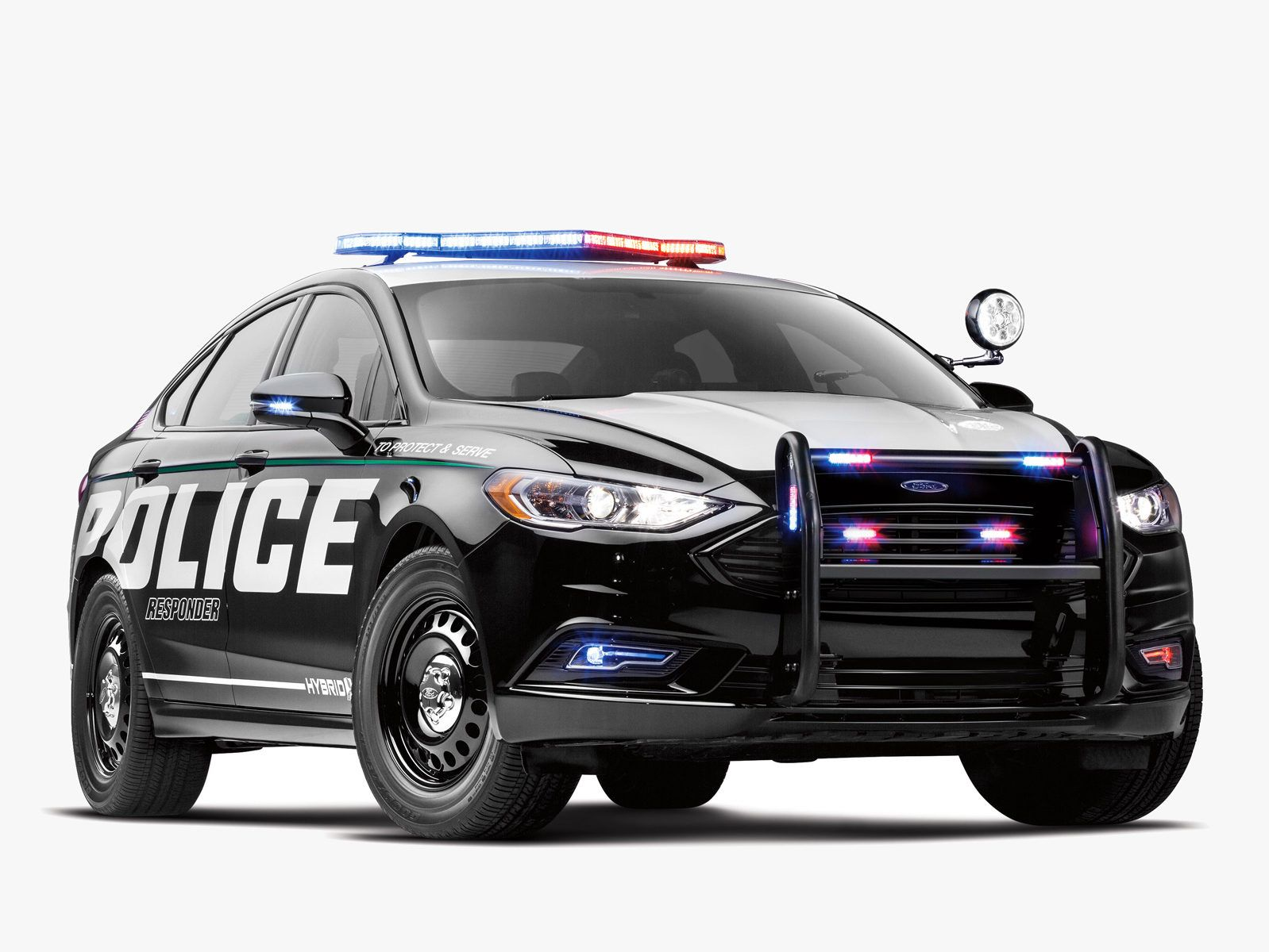 Ford First Responder >> Ford S First Hybrid Cop Car Is One Mean Green Machine