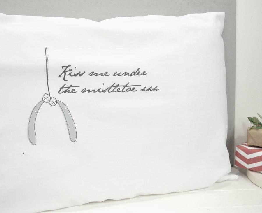 Christmas Kisses Pillowcase