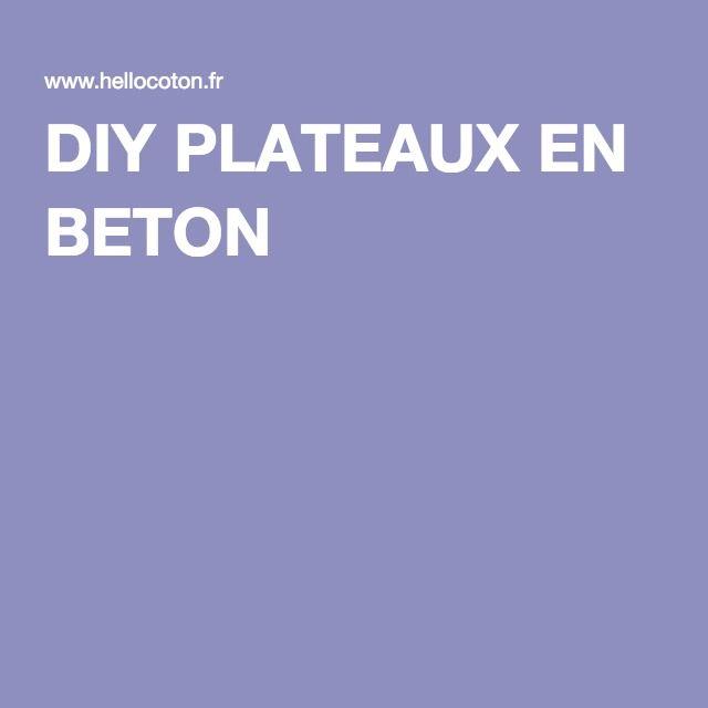 DIY PLATEAUX EN BETON