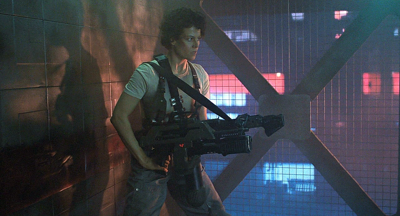 "Ripley from Alien (1985) | Whether you like the genre or not, ""Alien"" is pretty revolutionary. Not only it made the genre popular, but it also stands out for choosing a female to play the iconic ""Ripley"". Of course, we have to mention Sigourney Weaver. Superb. I can't imagine any other actress as badass as her to play ""Ripley""."