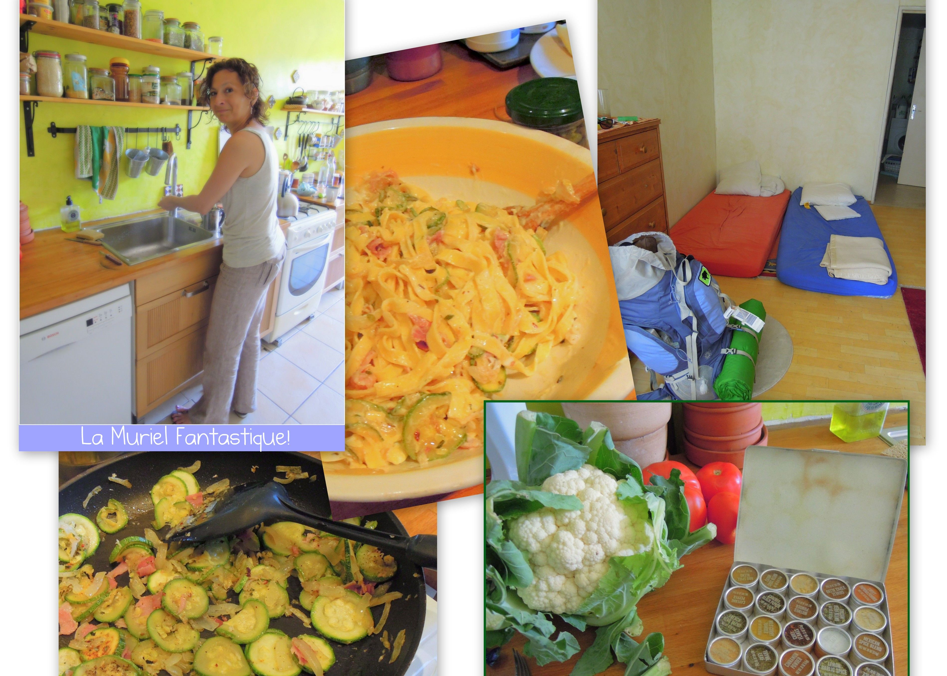 Couchsurfing with Muriel in Vitrolle France Pasta with lemon