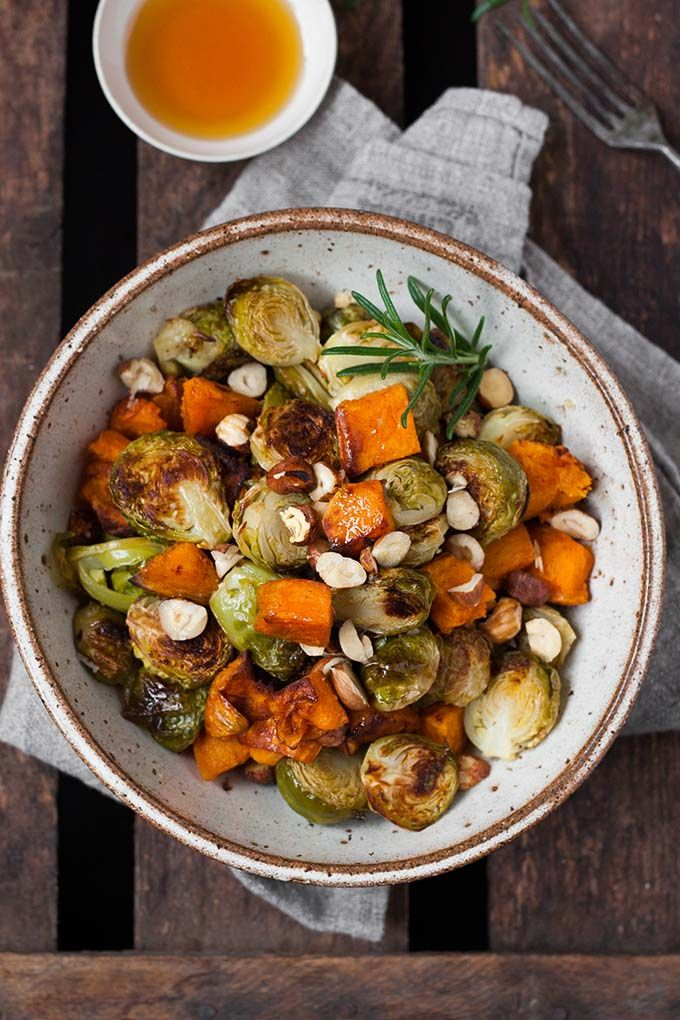 Gerösteter Rosenkohl und Süßkartoffel aus dem Ofen - Kochkarussell