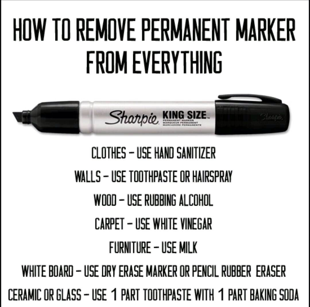 How to remove permanent marker from anything.