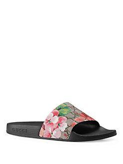 b05cc744bbe Gucci - Pursuit Bloom Canvas Slides