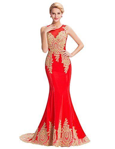 Belle Long Prom Dress Women\'s Sleeveless 16 Red(GK0026). UK prom ...