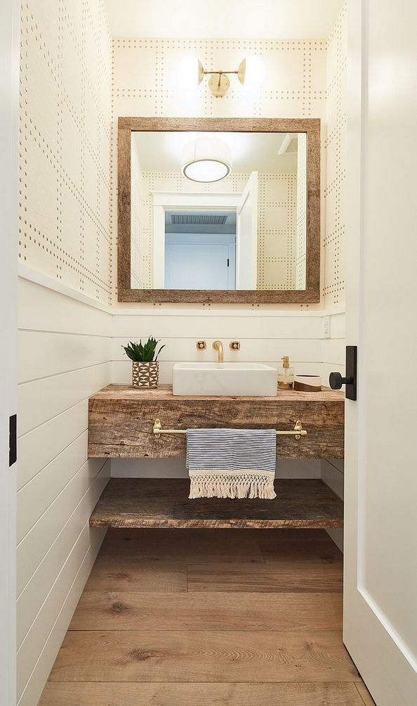 35 The New Fuss About Small Farmhouse Bathroom Half Baths Powder Rooms 121  Informations About 35 The Most Incredibly Disregarded An bathroom ideas Colors bathroom ideas...