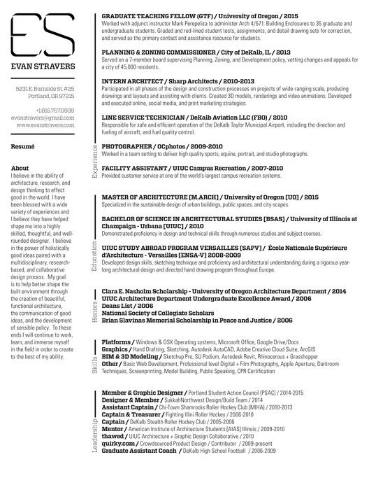 Gallery of The Top Architecture Résumé\/CV Designs - 3 - architecture resume