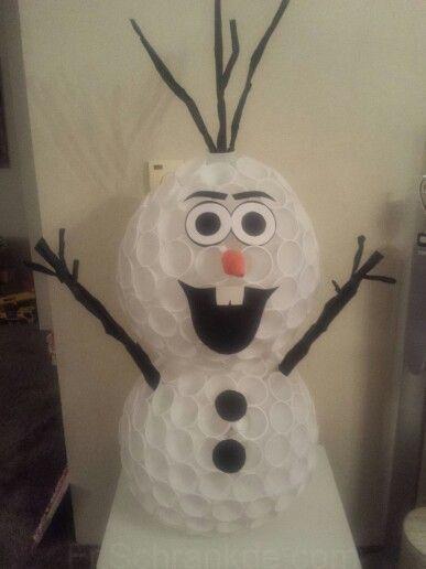 Olaf Plastic Cup Snowman