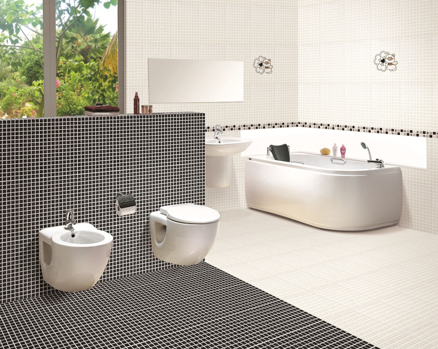Bathroom Tile Ideas Mosaic lovable dark mosaic tile floor pattern for traditional looking