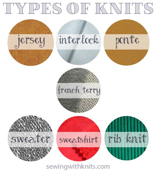 types of knit fabrics sewing with knits a modern thread sewing sewing hacks fashion sewing. Black Bedroom Furniture Sets. Home Design Ideas