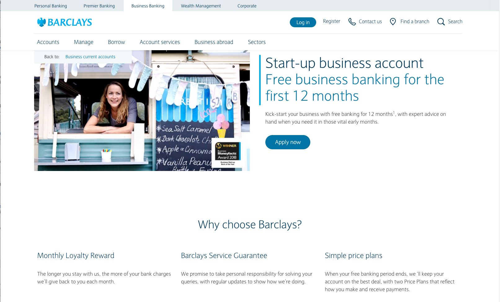Barclays featuring their BMFAwards win online. Business