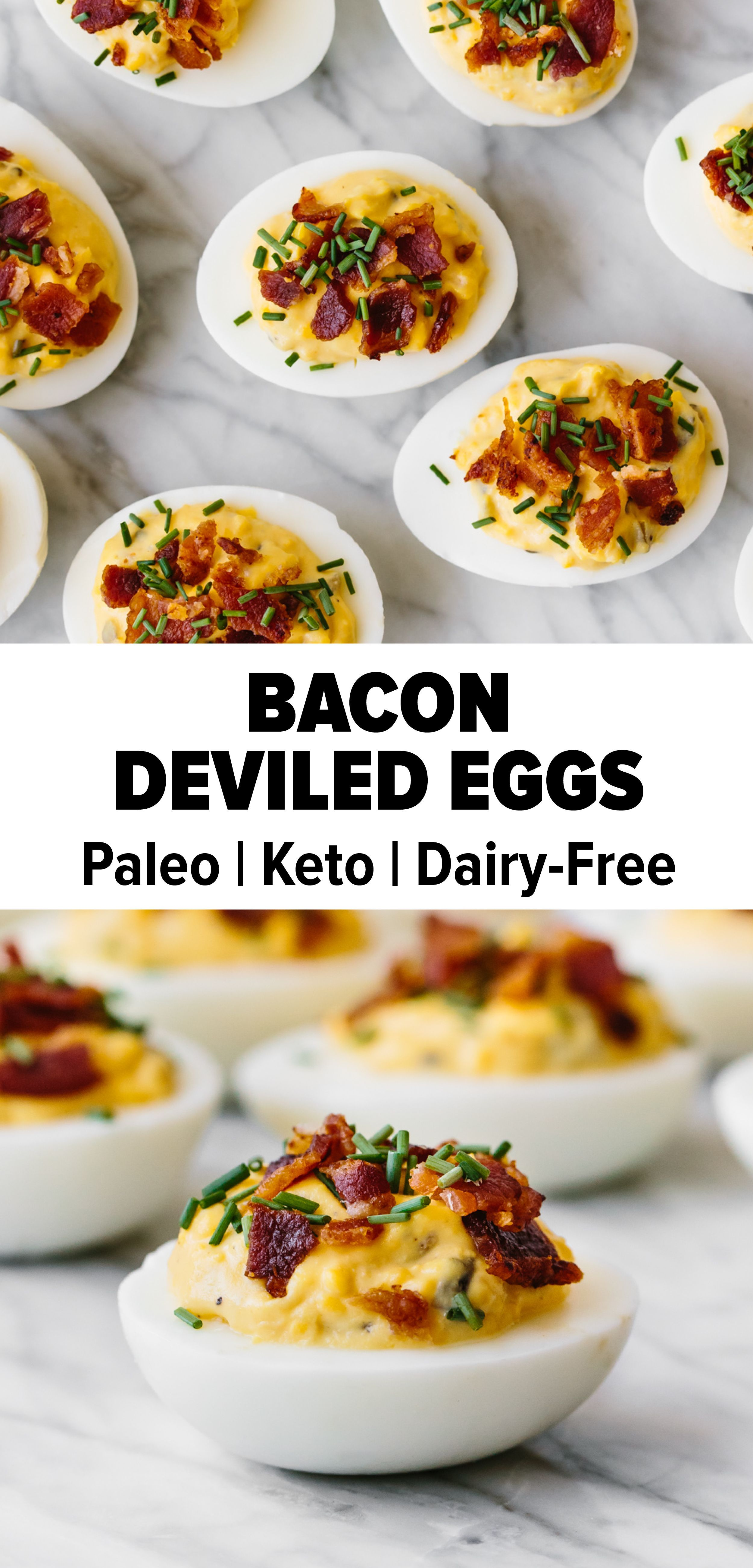 Bacon Deviled Eggs Bacon deviled eggs are a tasty spin on deviled eggs and topped with a generous a