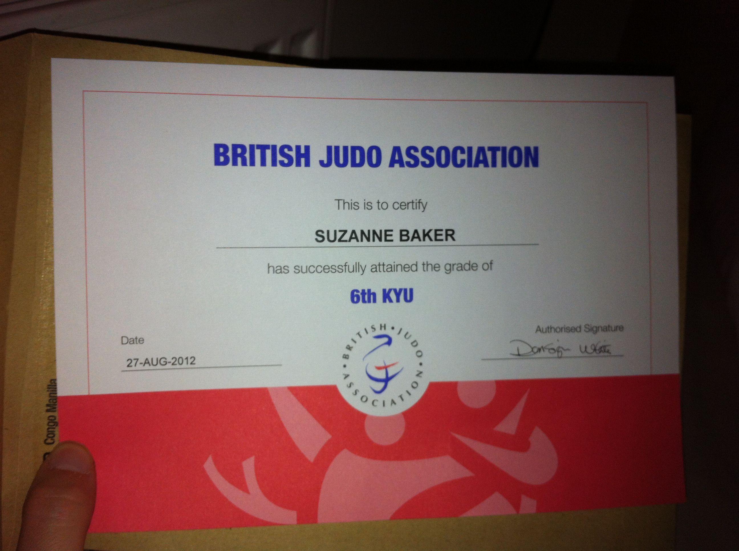First Judo Grading Certificate :)   Reconocimientos   Pinterest   Judo