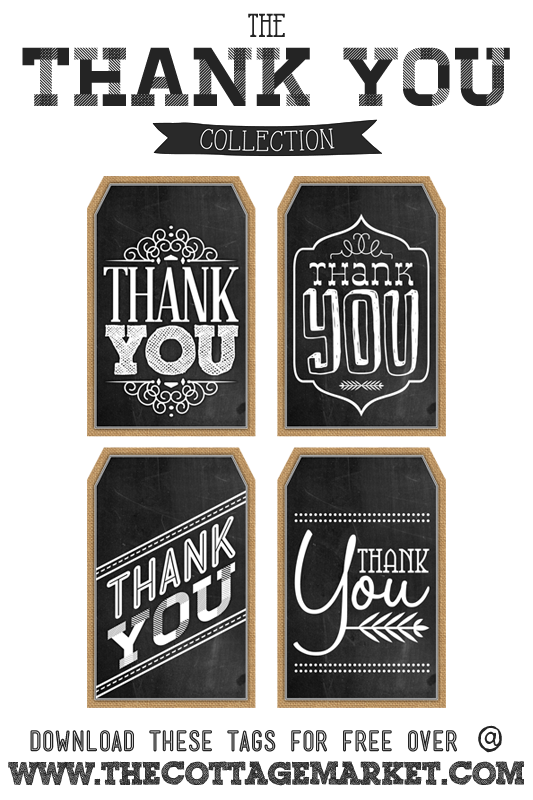 picture about Thank You Gift Tags Printable named No cost Printable Chalkboard Thank On your own Tags Absolutely free Printables