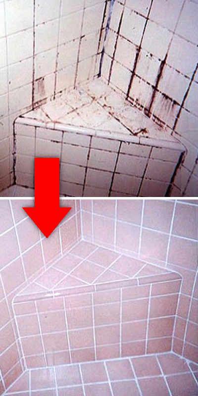 C mo quitar suciedad restos de jab n y cal de los azulejos con facilidad clean organize - Como quitar rayones del piso vinilico ...