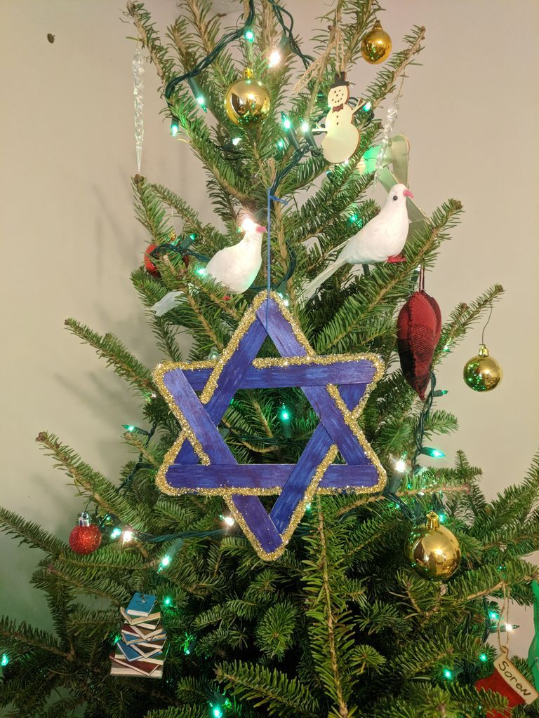 Star of David Ornament for Christmas or Hanukkah ...