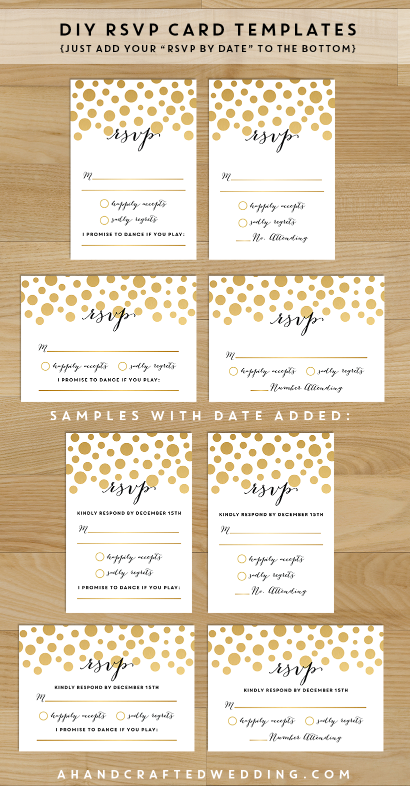 Save Money On Your Wedding Invites With These Printable Templates You Can Customize Yourself